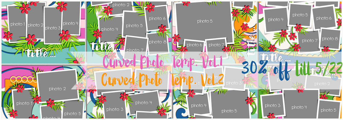 curved photo templates 1,2