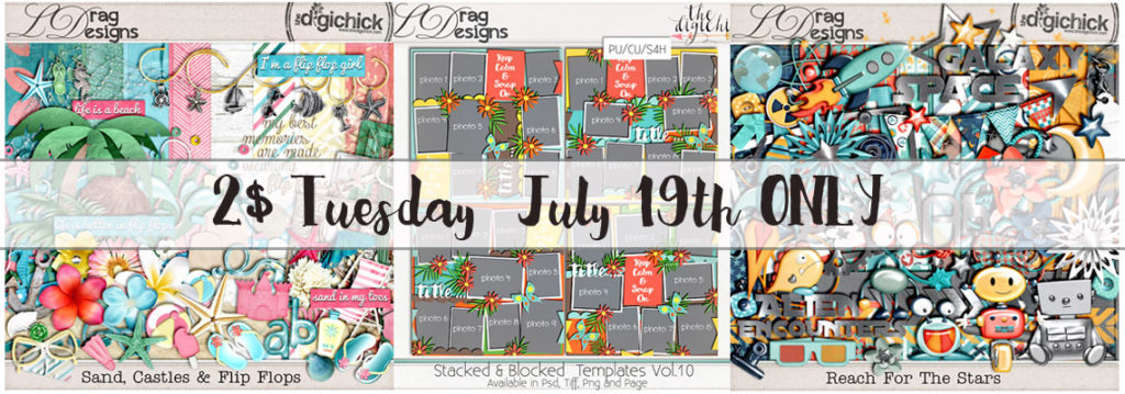 2$ Tuesday July19th ONLy and a 60% OFF Sale!