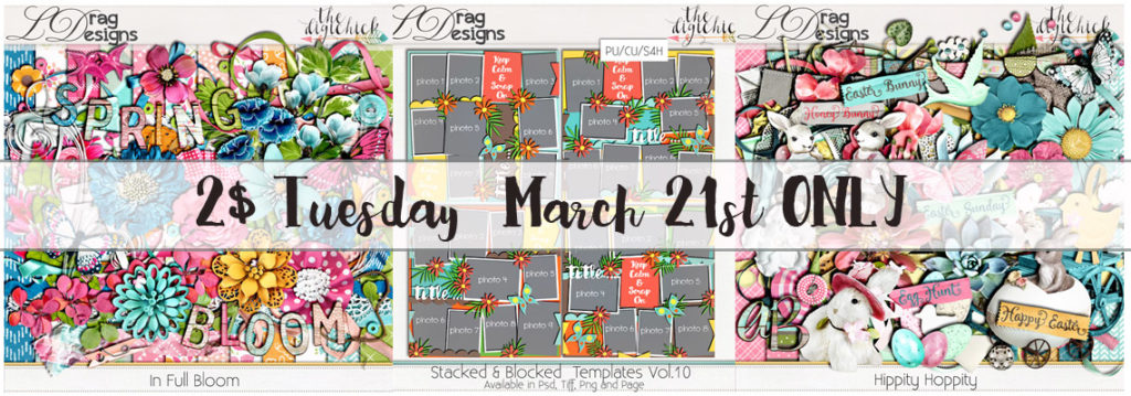 2$ Tuesday March 21st ONLY!!!!