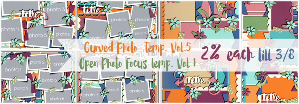 Curved Photo Vol. 5 and Open Photo Focus Vol. 1 Templates