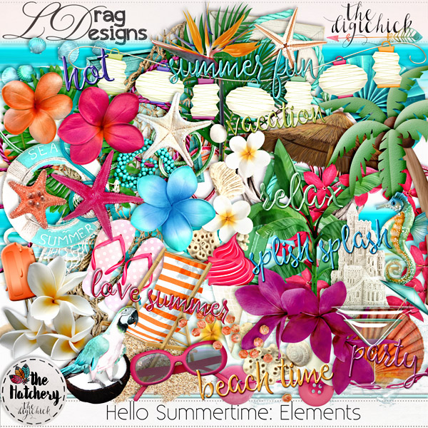 Hello Summertime June 2017 Hatchery Collection and freebie!