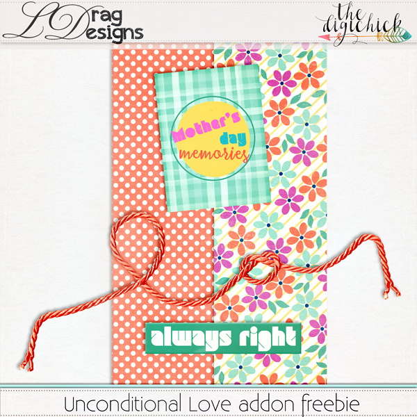 Unconditional Love and a freebie addon!!