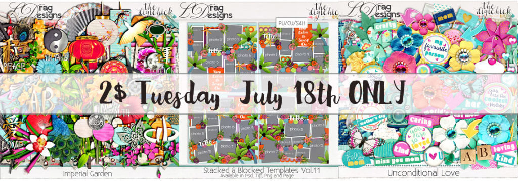 2$ Tuesday July 18th ONLY!!!