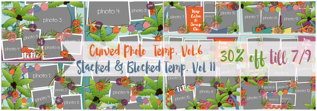 New Curved Photo & Stacked and Blocked Templates & a template challenge!
