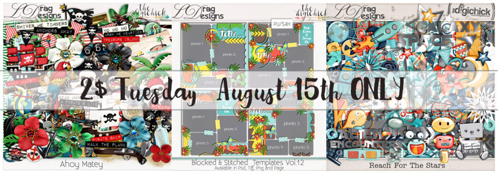 2$ Tuesday August 15th ONLY!!!