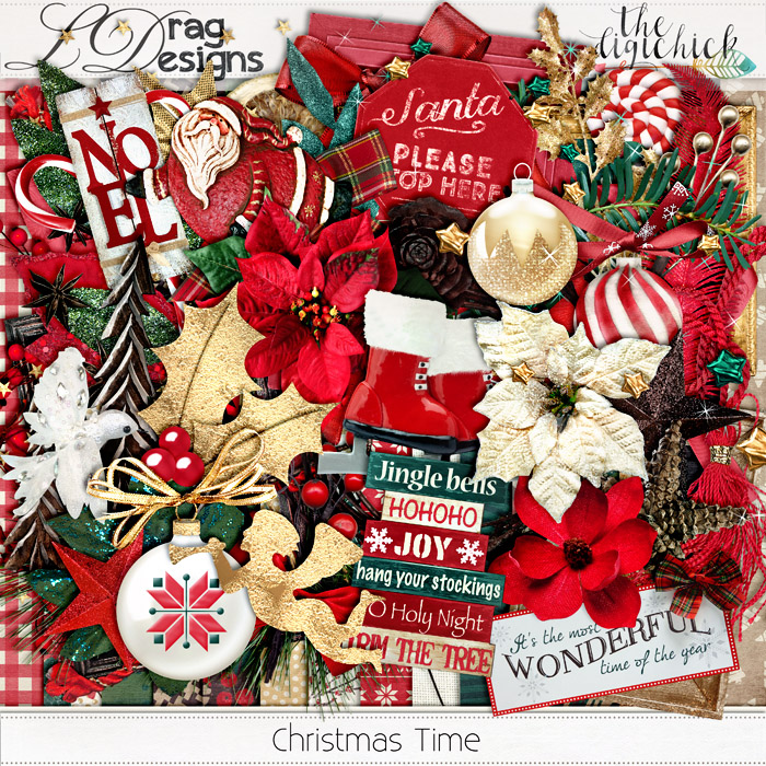 Christmas Time Collection and a freebie!